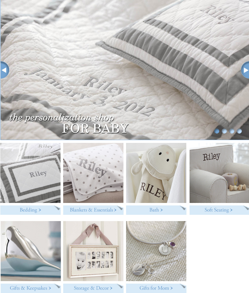 Pottery barn kids personalized gifting shop portfolio of mariah baby personalization shop negle Images